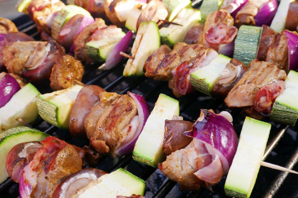Zucchini- Grillspieße